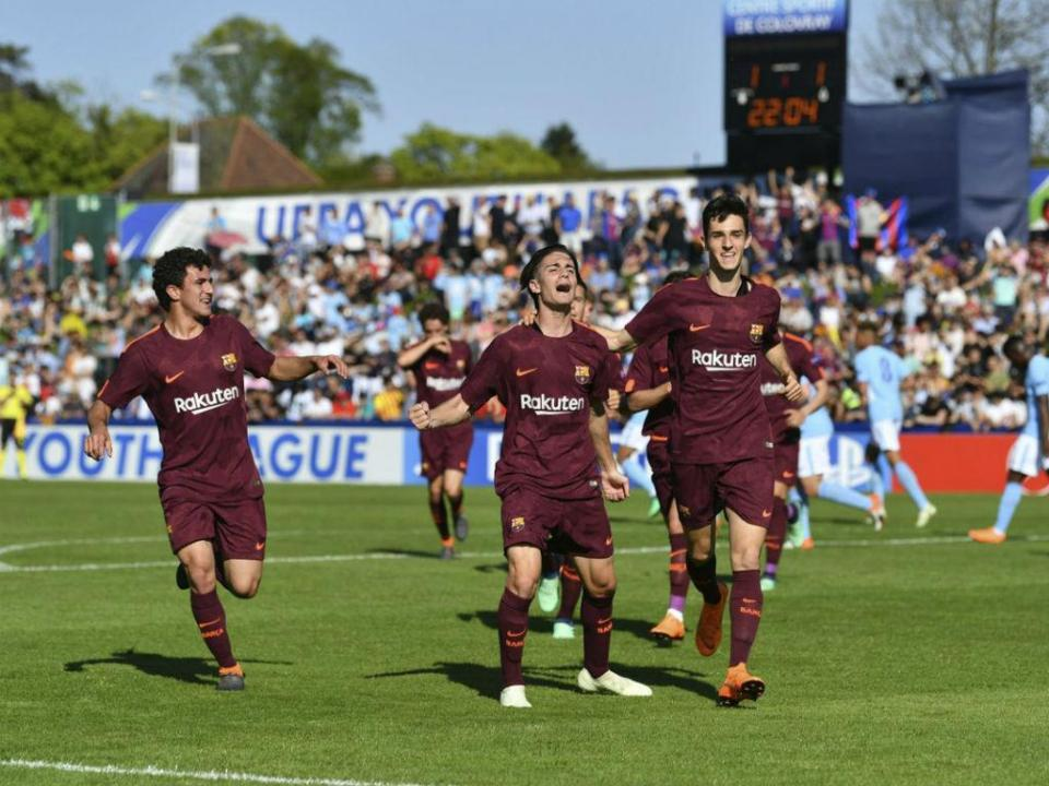 Youth League: Barcelona vence Man City em partida emocionante