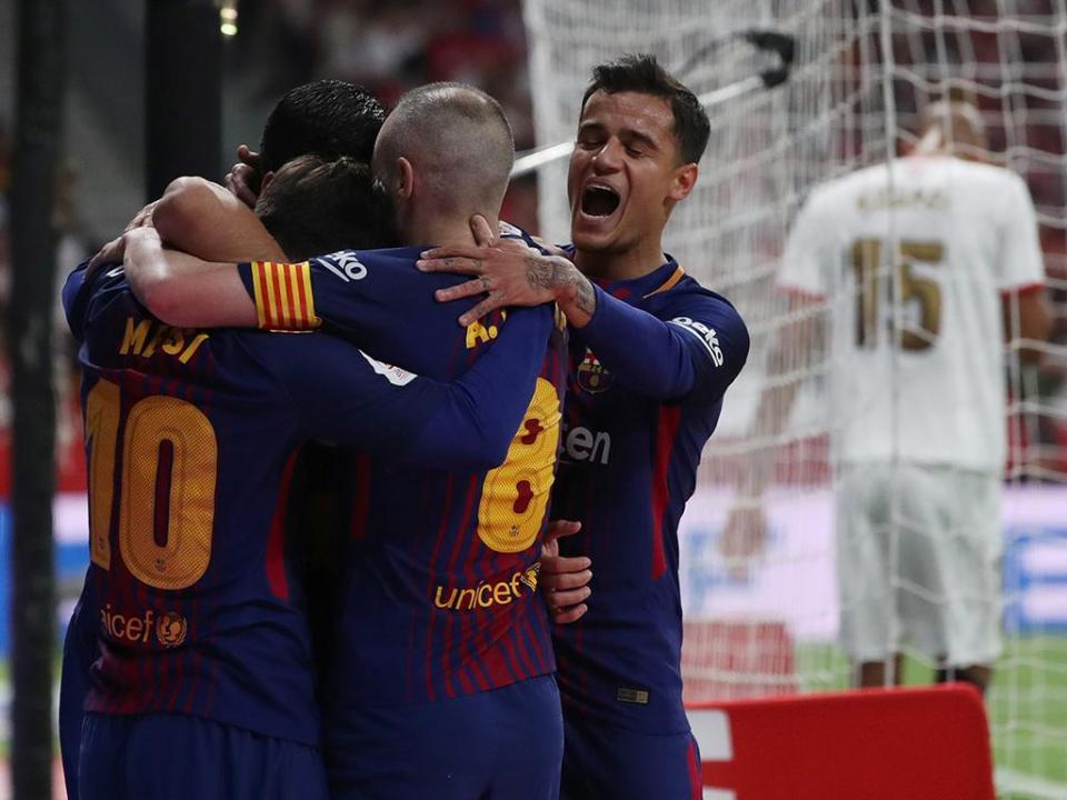 Barcelona goleia Sevilha e faz o «tetra» na Taça do Rei ... 33a98165b506b