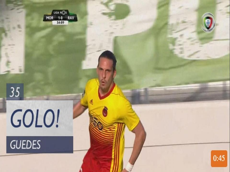VÍDEO: Guedes marca e anula vantagem do Moreirense