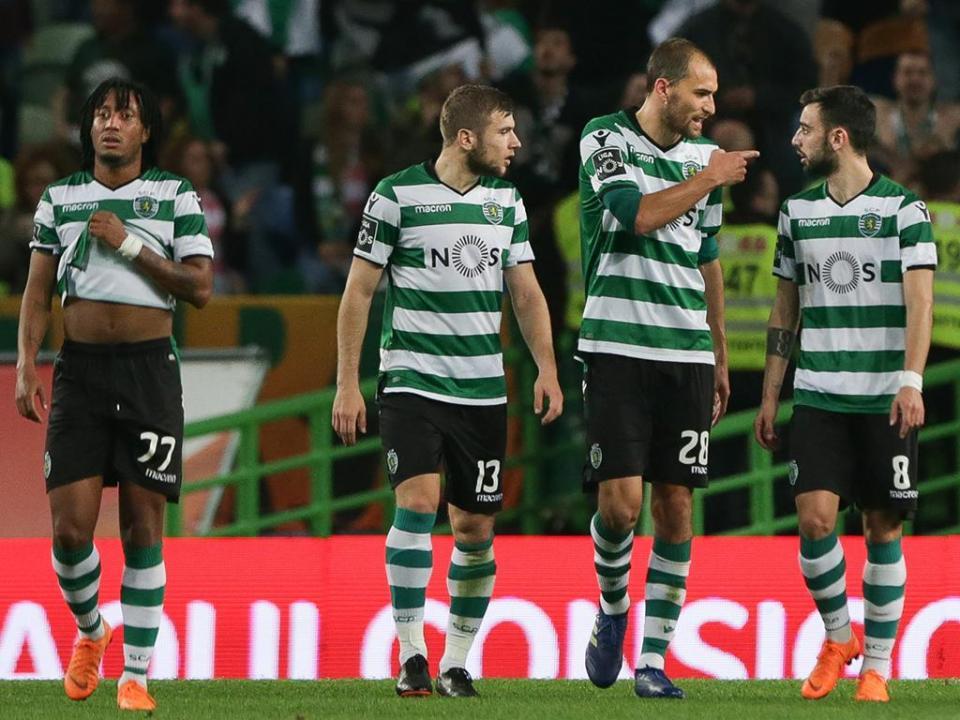Sporting: William, Mathieu, Piccini e André Pinto de fora