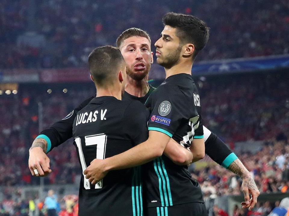 Real Madrid sem Isco e Carvajal para a receção ao Bayern