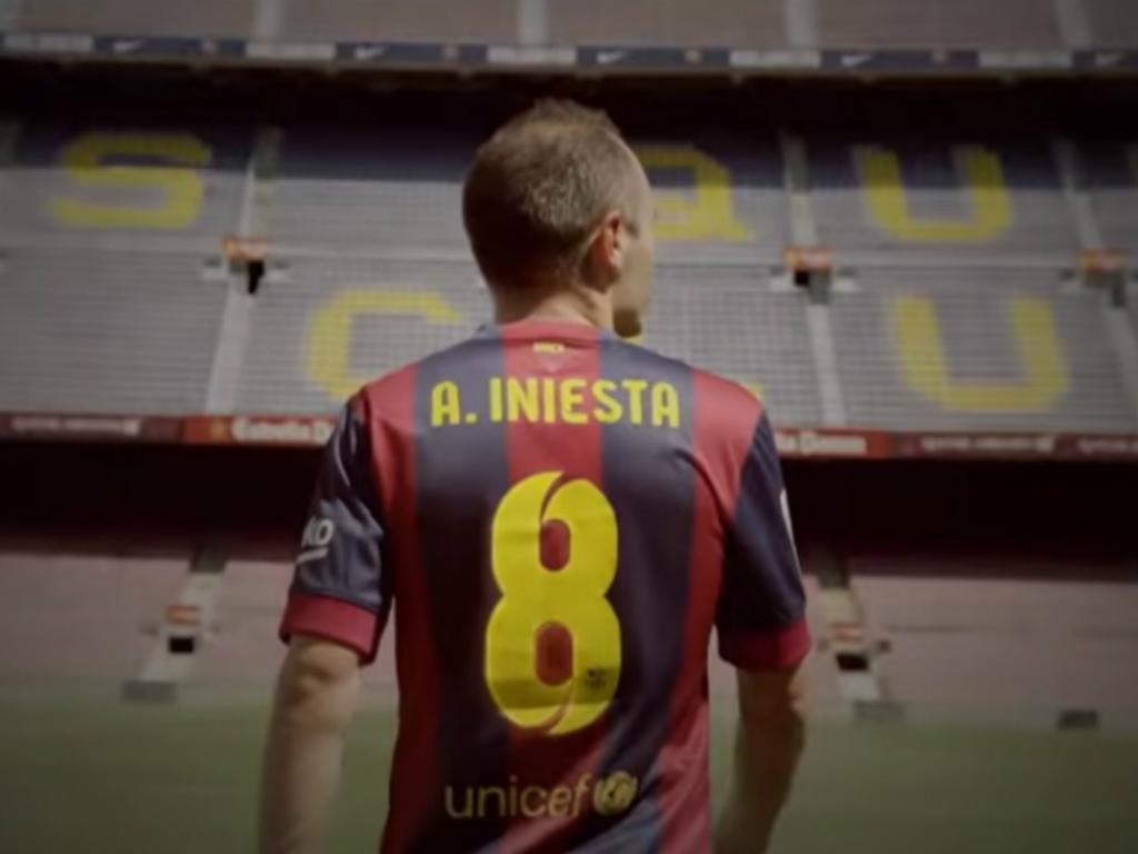 VÍDEO: Barcelona agradece a Iniesta na despedida