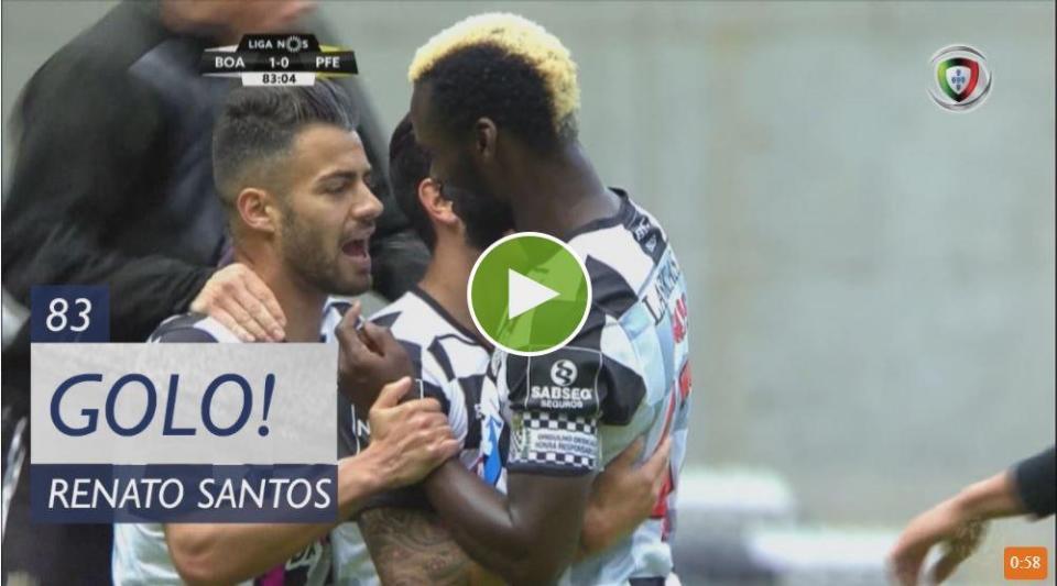VÍDEO: Renato Santos ainda foi a tempo de dar três pontos ao Boavista