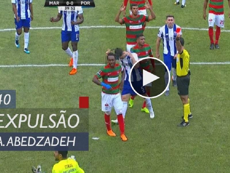 VÍDEO  a expulsão de Amir no Marítimo-FC Porto  0f2973c30be42