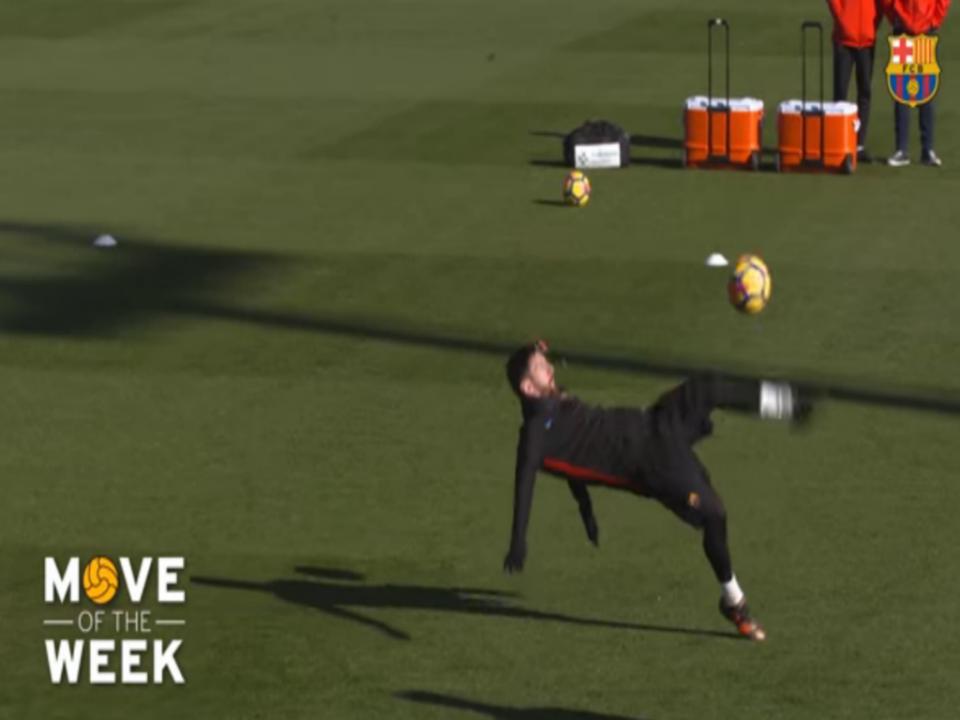 VÍDEO: Bicicleta de Messi a «imitar» Ronaldo