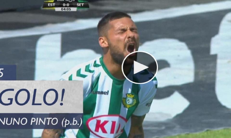 VÍDEO: erro incrível de Nuno Pinto adianta o Estoril no marcador