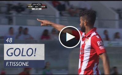 VÍDEO: contra-ataque perfeito e Tissone faz 2-0 no Moreirense-Aves