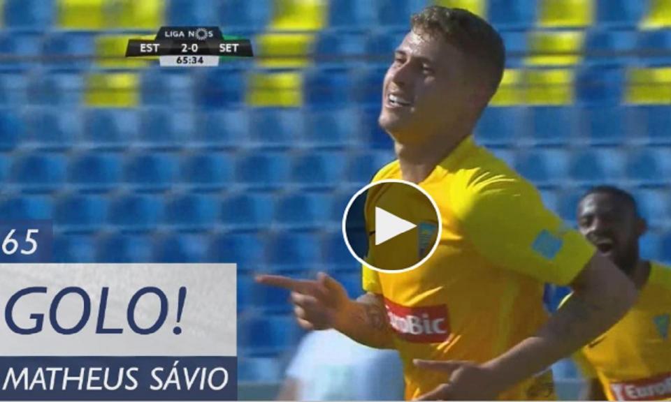VÍDEO: Matheus Sávio faz o 2-0 para o Estoril na Amoreira