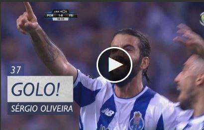 VÍDEO: Sérgio Oliveira faz 1-0 e dá mais cor à festa no Dragão