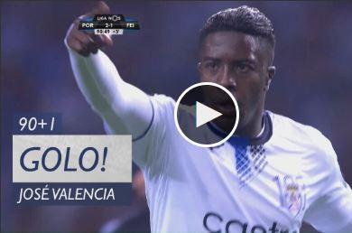 VÍDEO: Valencia reduz para o Feirense no Dragão