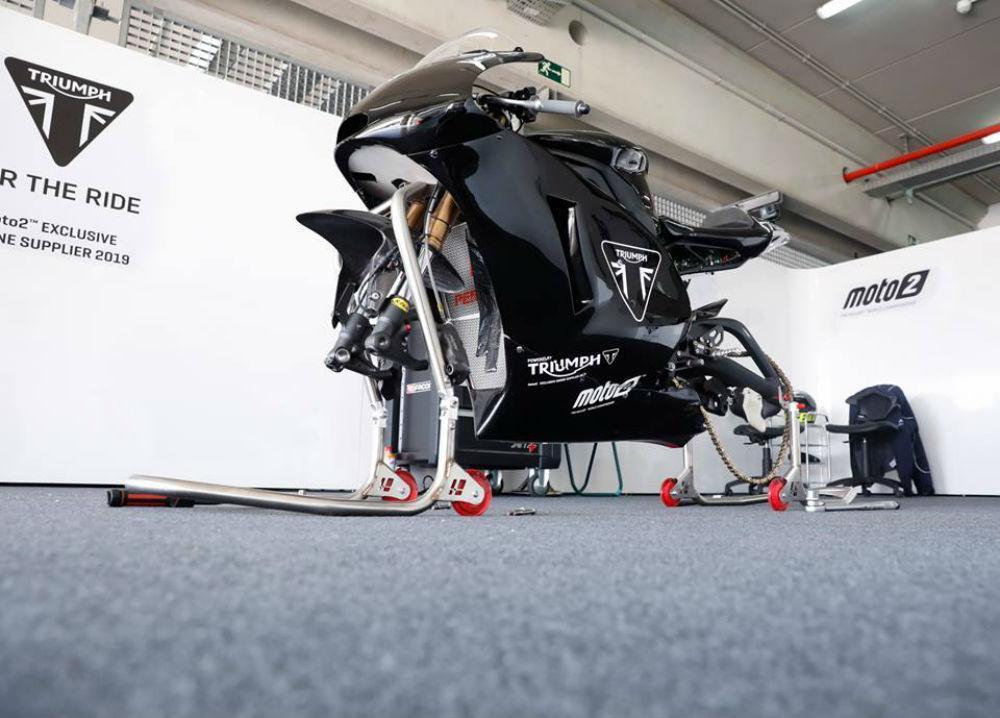 Moto2: motor Triumph testado em Aragão