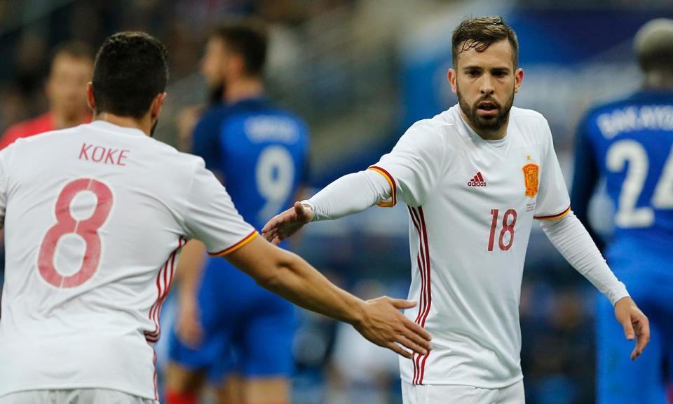 Espanha: Jordi Alba volta à seleção