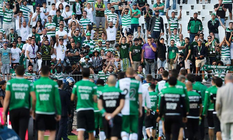 Sporting multado em 3800 euros por agressões em Portimão