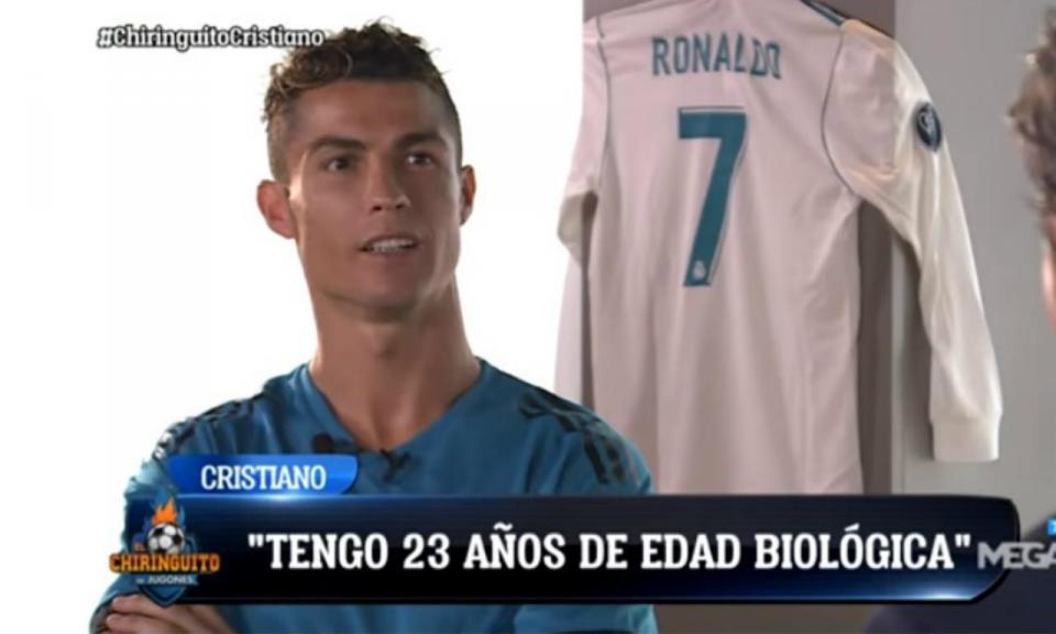 Ronaldo e a reforma: «Tenho 23 anos de idade biológica»