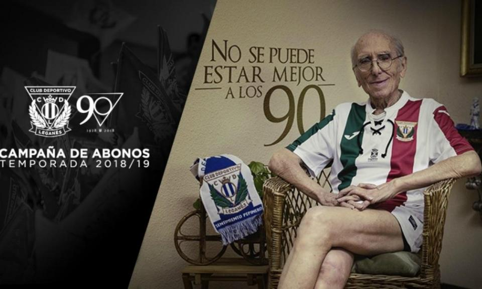 VÍDEO: casal de nonagenários faz furor a apresentar camisola do Leganés