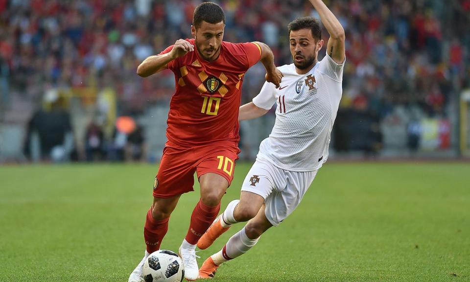 Bélgica: Hazard saiu ao intervalo devido a um toque num joelho