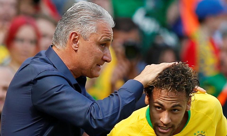 Tite: «Neymar ainda não está a 100 por cento»