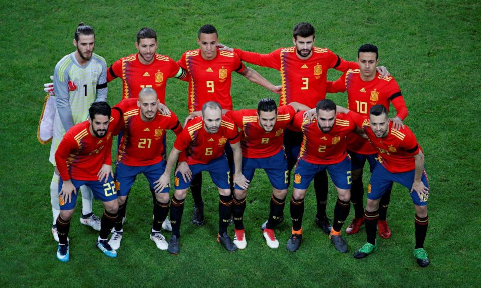 ddd2038eea155 Espanha  os números das camisolas para o Mundial 2018