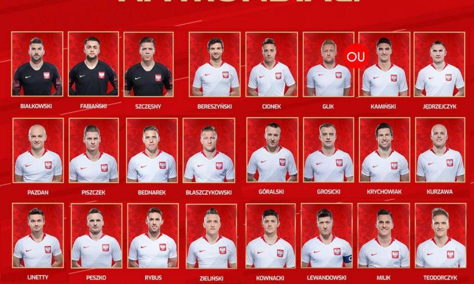 Polónia divulga lista com Glik e mais 23, mas sem Davidowicz
