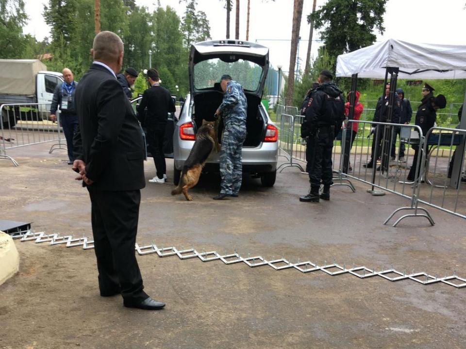 Segurança muito rigorosa protege Seleção em Kratovo