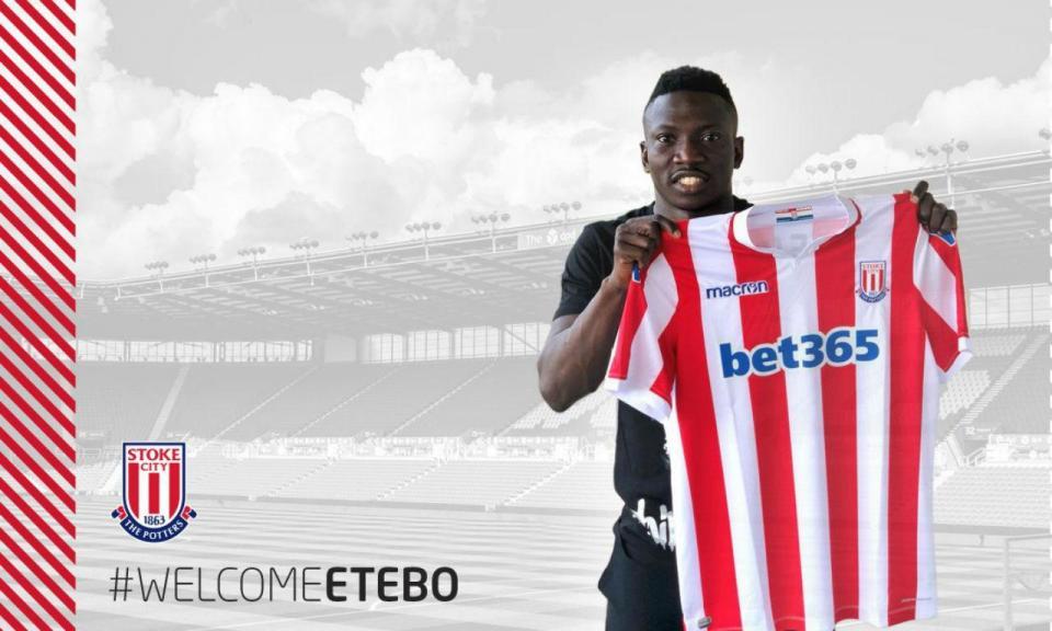 Transferência de Etebo para o Stoke é a maior de sempre do Feirense