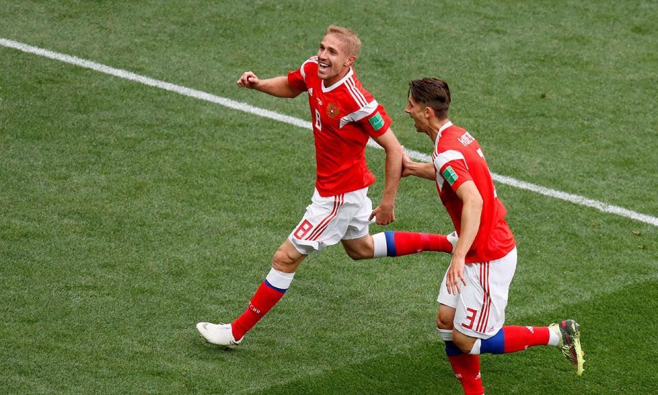 Mundial 2018: Rússia-Arábia Saudita, 5-0 (resultado final)