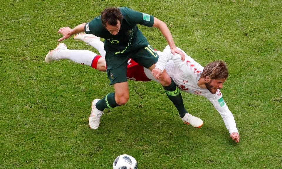 Mundial 2018: Dinamarca-Austrália, 1-1 (crónica)