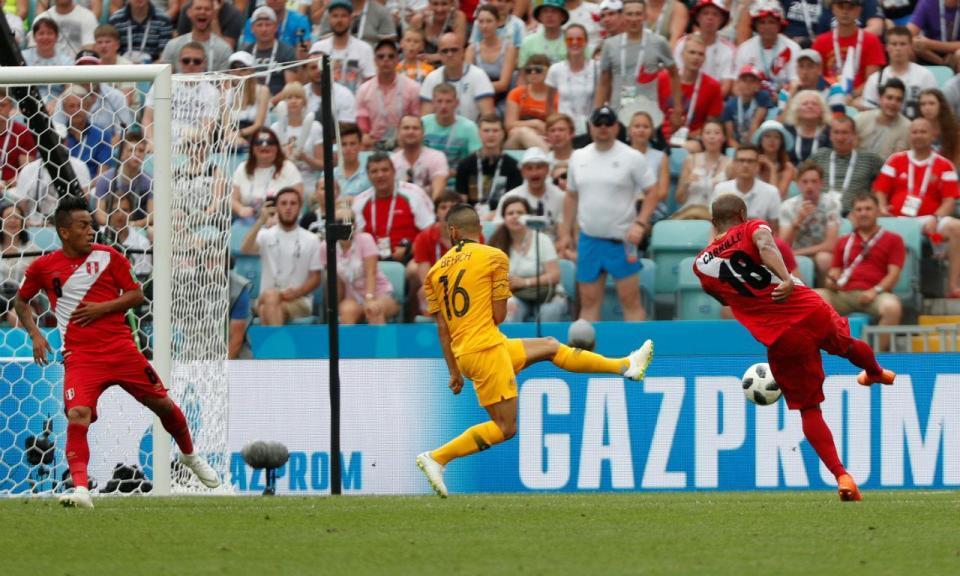 Mundial 2018: Austrália-Peru, 0-2 (resultado final)