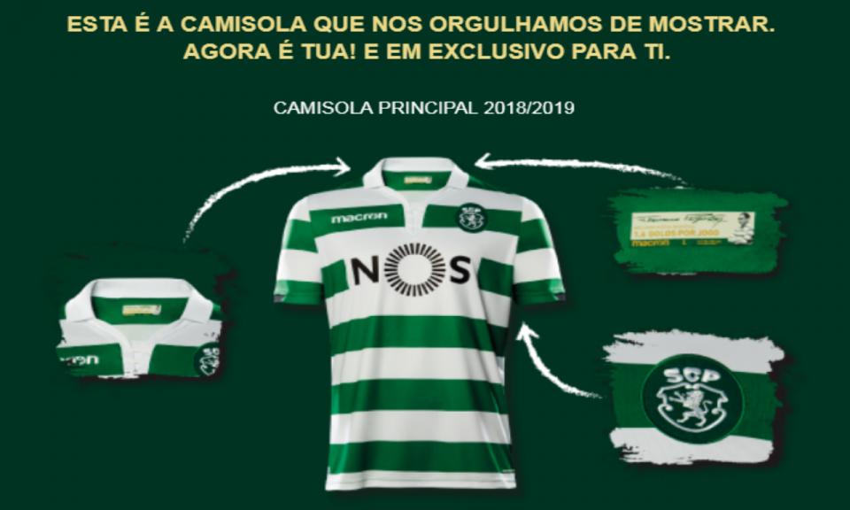 Sporting: equipamento para 2018/19 recupera símbolo antigo