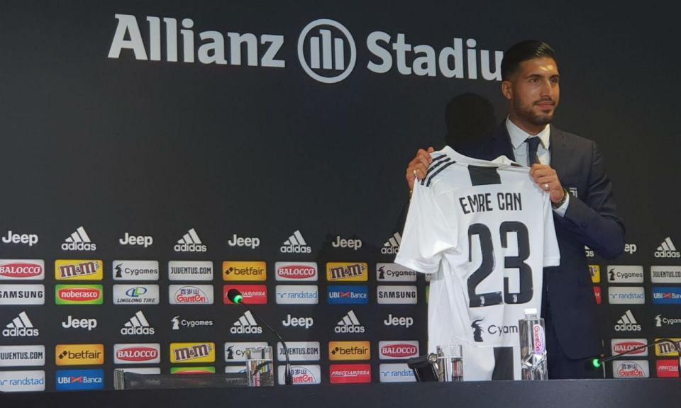 Juventus: Emre Can operado com sucesso a nódulo na tiroide