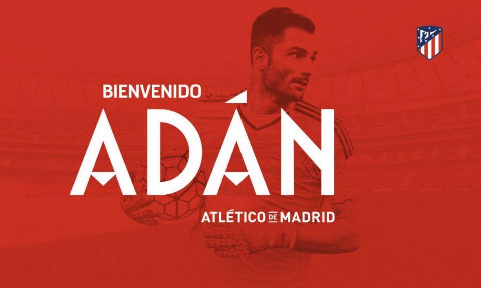 OFICIAL: Adán é reforço do Atlético de Madrid