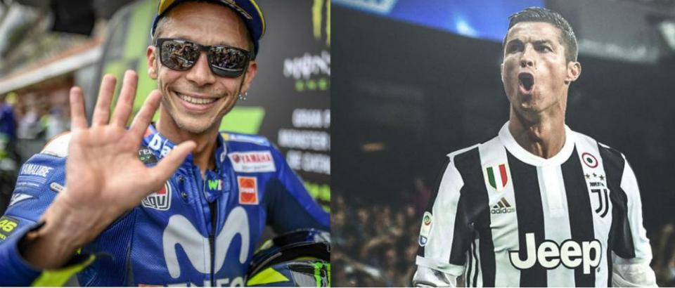 Valentino Rossi vai ganhar dinheiro com Cristiano Ronaldo