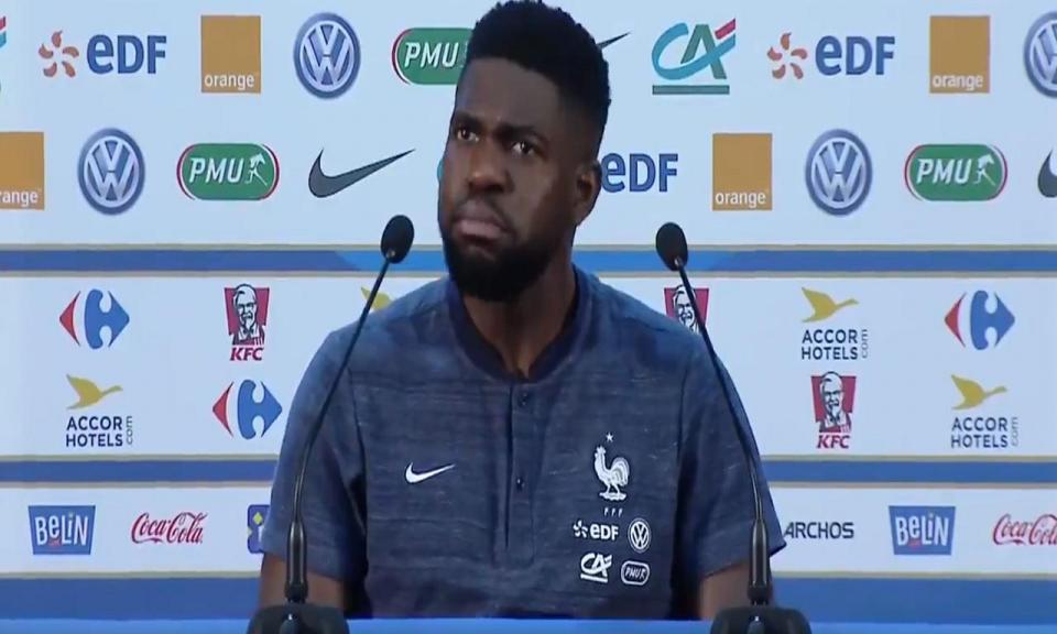 VÍDEO: a reação de Umtiti após o terem confundido com Pogba