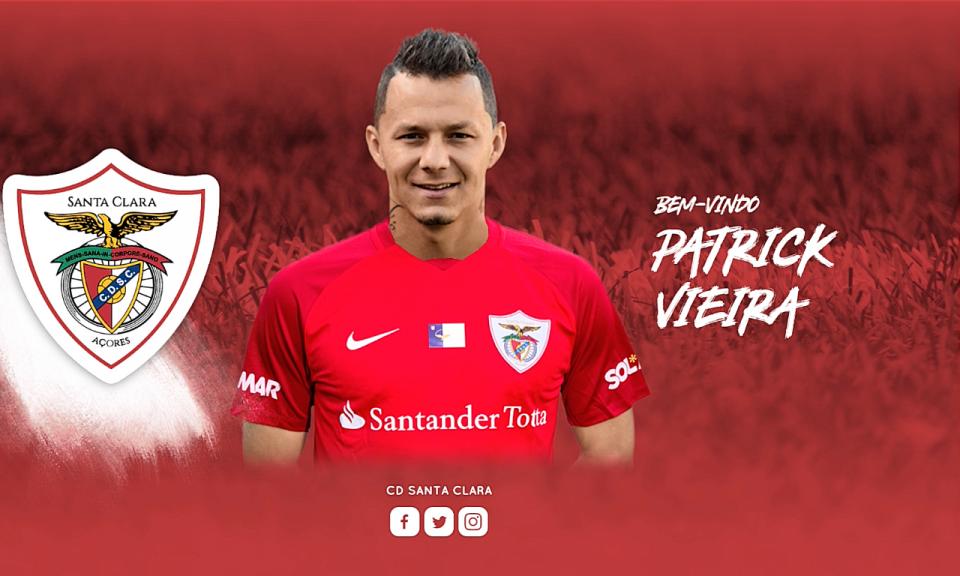 OFICIAL: Patrick Vieira deixa Benfica e assina pelo Santa Clara