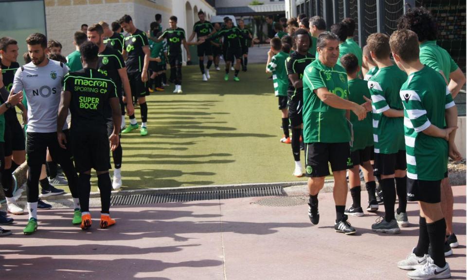 Sporting: único treino do dia com mais um guardião da formação