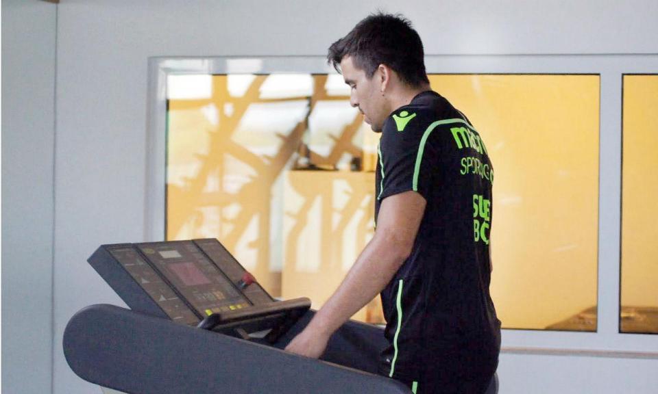 Sporting: Acuña ainda no ginásio
