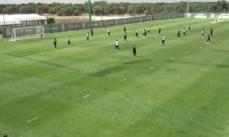 VÍDEO: Bebeto partilha golaço de Mattheus no treino do Sporting