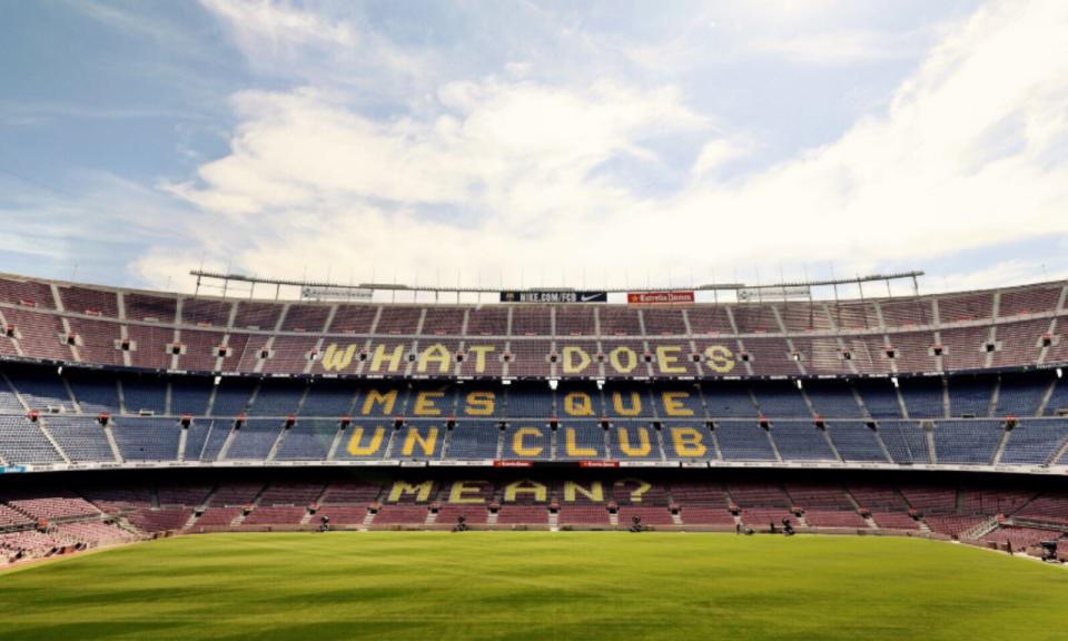A nova frase em Camp Nou: «O que significa més que un club?»