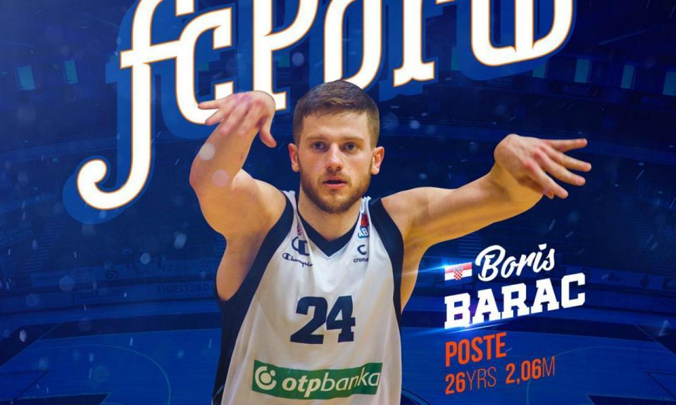 Basquetebol: FC Porto contrata Boris Barac