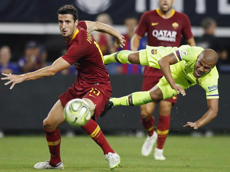 Roma vence Barcelona com polémica de mercado e Cristante em destaque
