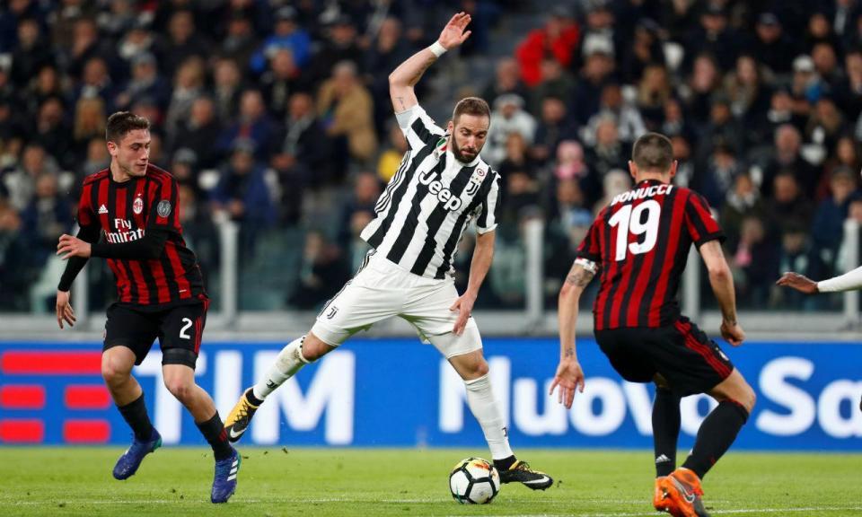 Juventus e Milan: os contornos do negócio Bonucci-Higuaín-Caldara