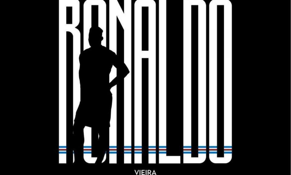 Incrível: Sampdória copia a Juventus e também anuncia Ronaldo