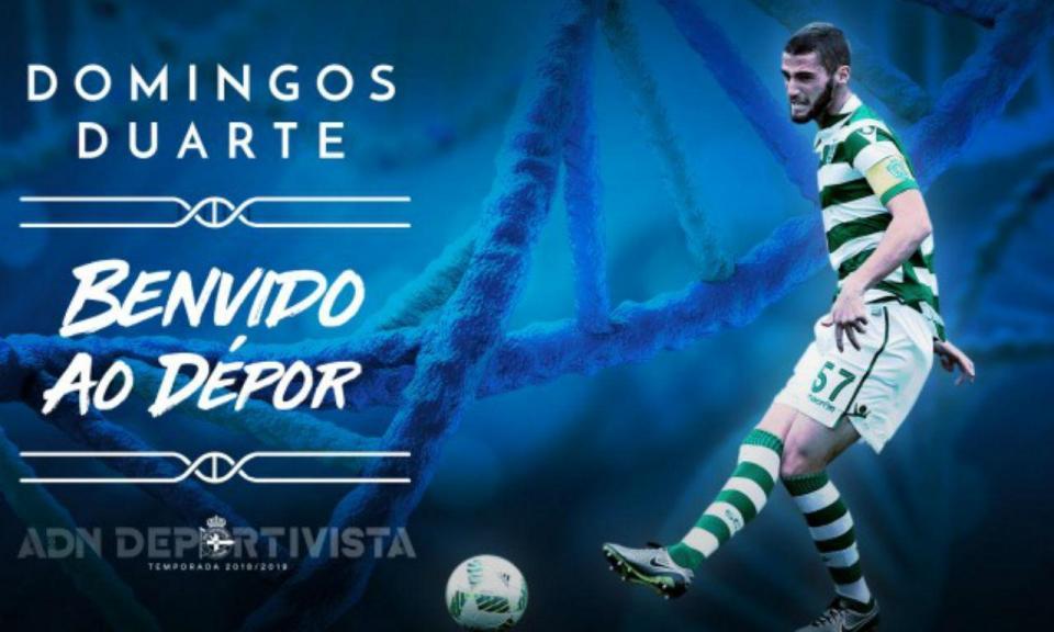 OFICIAL: Sporting empresta Domingos Duarte ao Deportivo