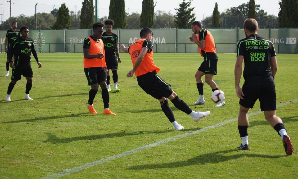 Sporting: leões só treinaram de manhã nesta quarta-feira