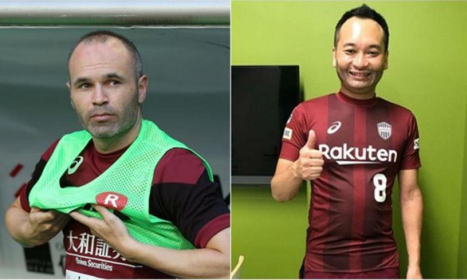 Incrível: FC Tóquio contratou sósia para suprimir a ausência de Iniesta