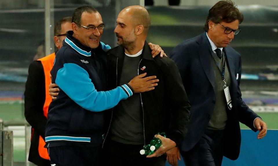 Inglaterra: Sarri e Guardiola trocam elogios antes da Supertaça