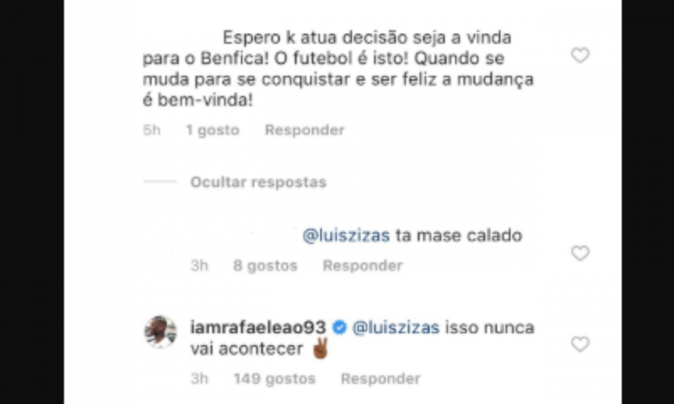 Rafael Leão: «Benfica? Isso nunca vai acontecer»