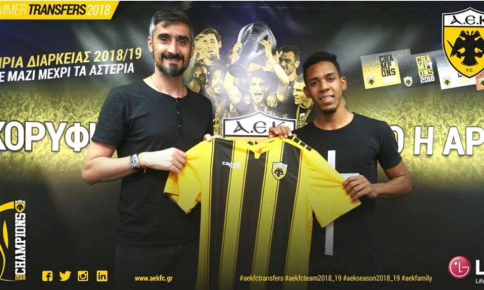 OFICIAL: AEK contrata avançado brasileiro de 20 anos