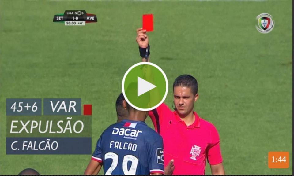 VÍDEO: veja a primeira expulsão da Liga 18/19