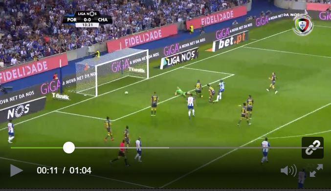 VÍDEO: Otávio a assistir e Aboubakar abre o marcador no Dragão